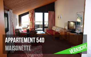 appartement 540 verkocht